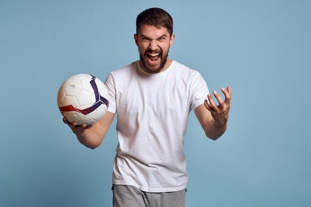 Man met honkbalknuppel sport emotie voetbal. hoge kwaliteit foto