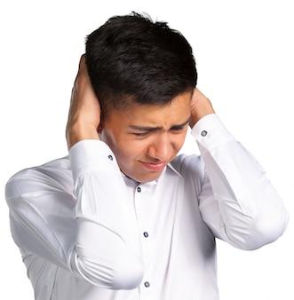 Man met hoofdpijn