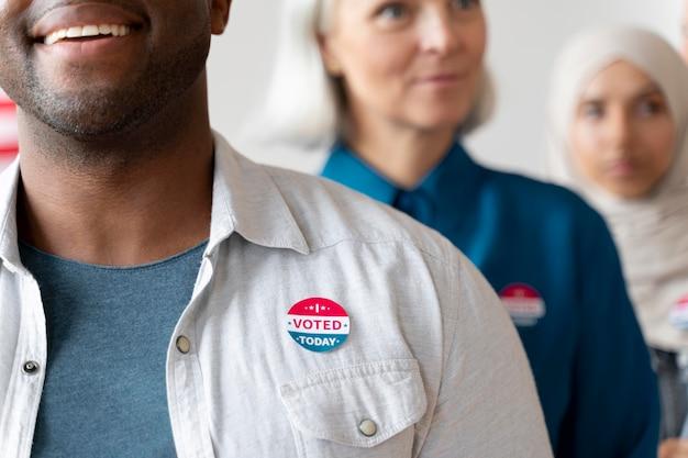Man met ik heb vandaag gestemd sticker