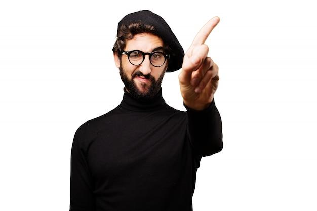 Man 'nee' zeggen met een vinger