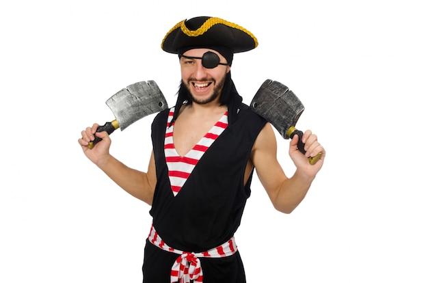 Man piraat geïsoleerd