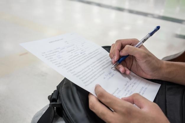 Man schrijven sollicitatieformulier