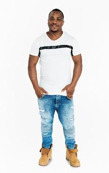 Man studio shoot full body concept