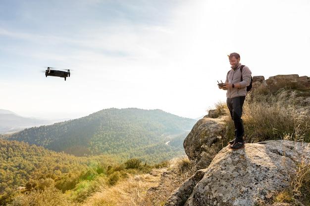 Man vliegende drone