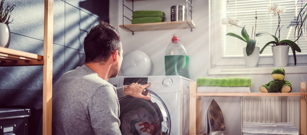 Man wasmachine starten