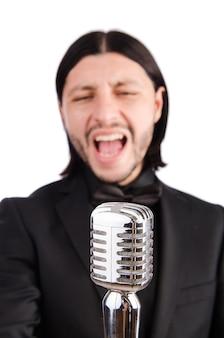 Man zingt in de karaokeclub