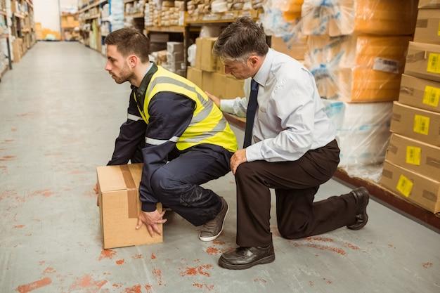 Manager trainingswerker voor gezondheids- en veiligheidsmaatregelen
