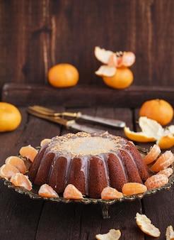 Mandarijncake met vanille. kerst bakken.