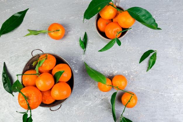 Mandarijnen achtergrond. heerlijke en mooie citrus.