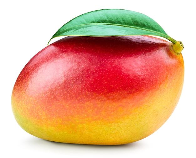 Mango geïsoleerd op wit met uitknippad