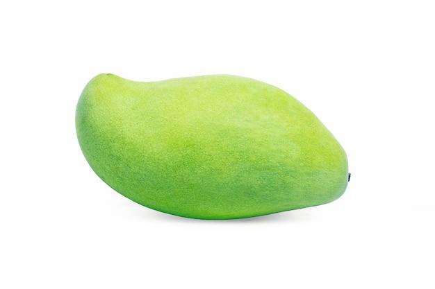 Mango groen geã¯soleerd op een witte achtergrond.