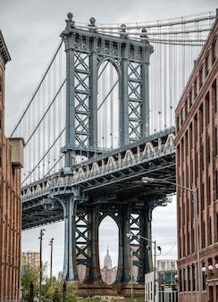 Manhattan bridge, new york, verenigde staten