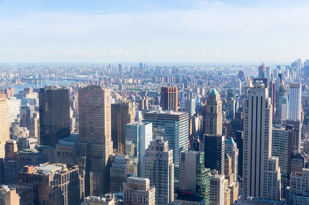 Manhattan met het panorama van het empire state building