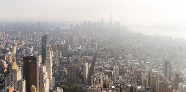Manhattan midtown en downtown viewe
