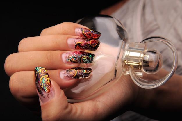 Manicures mooi patroon op nagels