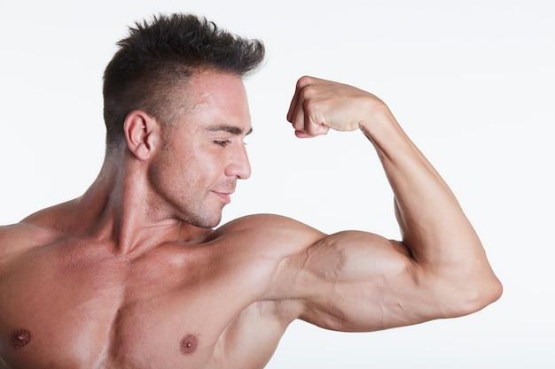 Mannelijk fit model