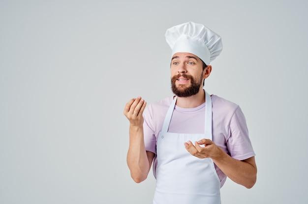 Mannelijke chef-kok professionele keuken gastronomisch koken