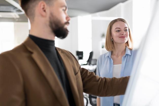 Mannelijke en vrouwelijke collega's in dezelfde kamer
