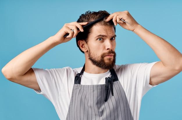 Mannelijke kapper kapperszaak kapsel professioneel