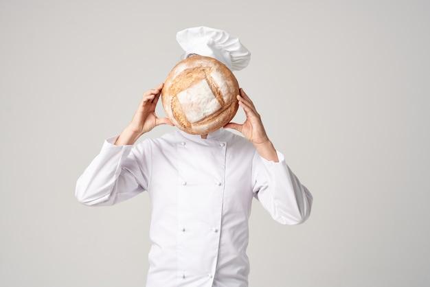 Mannelijke kok koken bakkerij professionele emoties