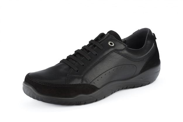 Mannelijke schoenen enkellaarsjes geïsoleerd op wit