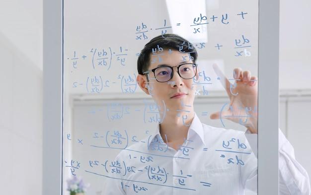 Mannelijke wiskundige