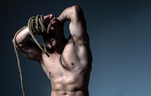 Mannen abs fitness buikspier man sixpack