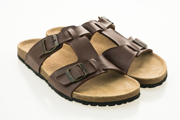 Mannen leren sandal en flip flop schoenen