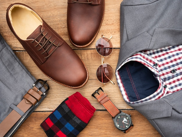 Mannen mode casual kleding set en accessoires