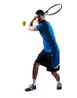 Mannen spelen hand tennis mensen