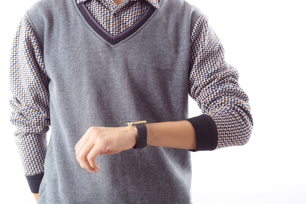 Mannetje licht dagelijks mens smartwatch