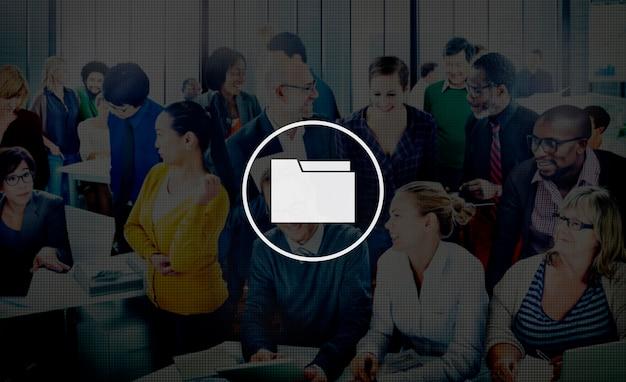 Mapopslagbestanden organisatie documentgegevens concept