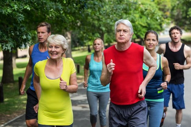 Marathon-atleten lopen