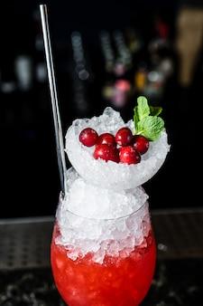 Margarita-cocktail, zijaanzicht, close-up