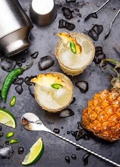 Margarita met ananas en jalapeno