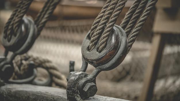 Marine rope reel engine