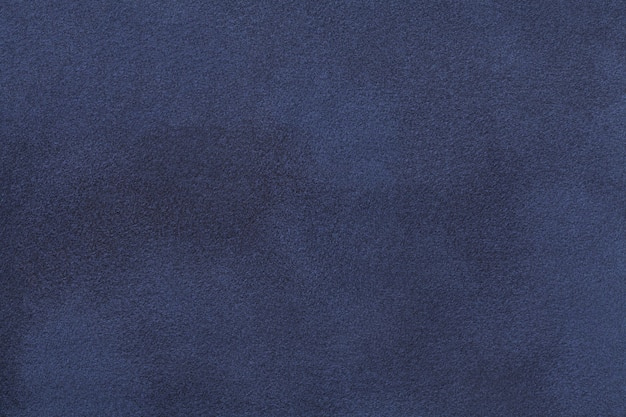 Marineblauwe matte suède fluwelen textuur,
