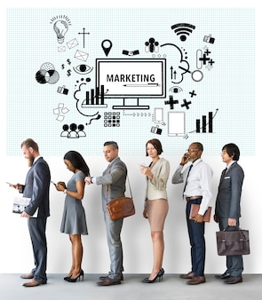 Marketing computer teken symbool concept