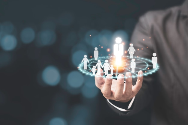 Marketing doelgroep concept met focus klantgroep