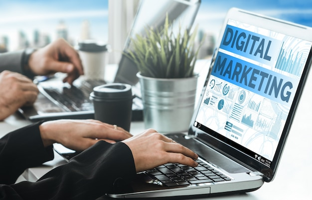 Marketing van digitale technologie bedrijfsconcept
