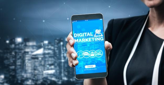 Marketing van digitale technologie bedrijfsconcept
