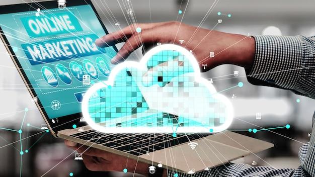 Marketing van digitale technologie business conceptueel