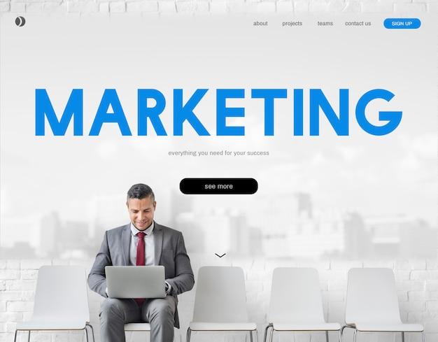 Marketing zakelijk branding advertentiewoord