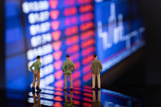 Marktaandeel en concurrent voor uitstekende groei met aandelen
