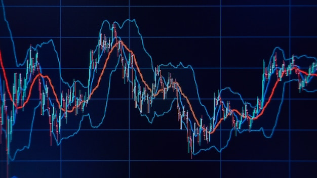 Marktgrafieken en grafieken. financieel en zakelijk concept. ondiepe dof!