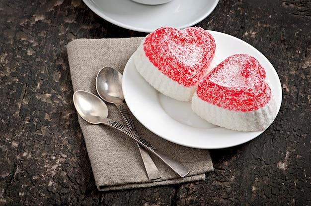 Marmelade in hartvorm