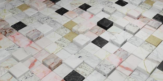 Marmeren blok kleurrijke marmeren textuur muur 3d illustratie