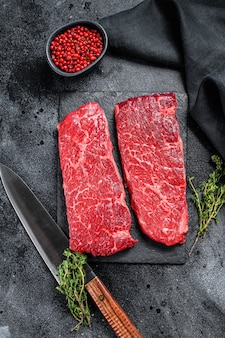 Marmeren denver steak met kruiden
