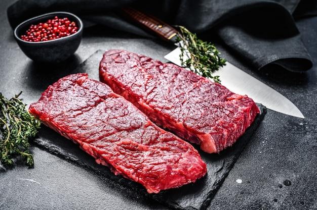 Marmeren denver steak met kruiden.
