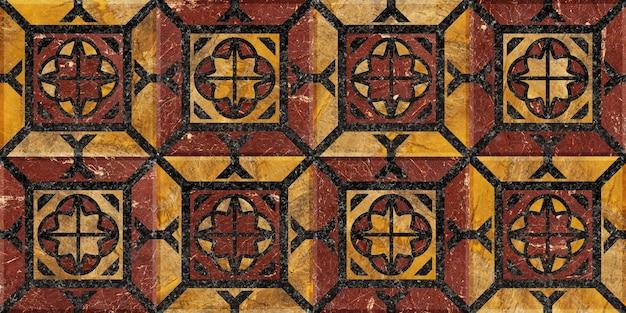 Marmeren tegels voor interieurontwerp. mozaïek gemaakt van natuursteen gepolijst. achtergrond textuur